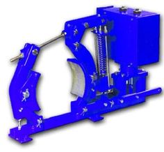 The Johnson magnetic AC drum brake is currently available in 17 models. This brake unit is spring applied and electrically released. Its coils operate at class 'B' temperature while contiguously energized and it is short time rated for up to 120 operations per hour max. 5 min. in 15 min. (33% on).