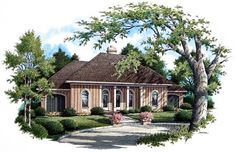 Country Traditional House Plan 65697
