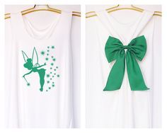 Tinkerbell Pixie dust Peter pan Tank Premium with Bow : Workout Shirt - Tank Top - Bow Shirt - Razor Back Tank-Disney shirt-Tinkerbell tank by DollysBow on Etsy https://www.etsy.com/listing/213003437/tinkerbell-pixie-dust-peter-pan-tank