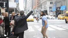 Image result for waving to a taxi gif
