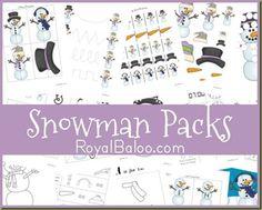 Free Snowman Printable Packs | Free Homeschool Deals ©