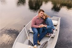 Couple shoot on a damn, couple sitting in a boat. The Notebook couple shoot inspiration. Romantic engagement session with couple in boat. Engagement Couple, Engagement Shoots, Wedding Engagement, Couple Photography Poses, Young Love, Couple Shoot, Notebook, Boat, Romantic