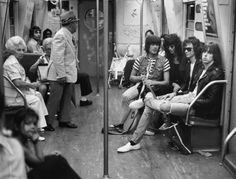 Ramones on the subway, 1975.