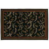 Willows & Cones Hooked Wool Rug Collection