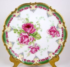 Antique Limoges Plate Hand Decorated by PiecesFromThePast2 on Etsy
