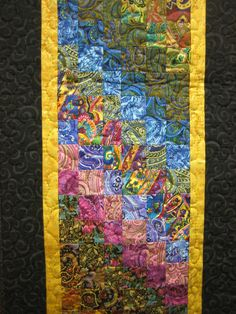 Art Quilt Paisley Passion Wall Hanging by TahoeQuilts on Etsy, $100.00