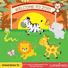 Jungle Animal Clipart  Baby Animals Clipart Safari Clipart