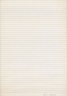 Hanne Darboven, Untitled, 1969, typescript on paper, cm 62,5 x 44,5