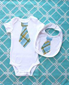 Sweet Spring Baby Boy Little Man Tie Onesie by ChicCoutureBoutique, $24.50