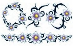 Tribal Daisies Tattoos