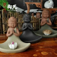 Buddha ceramic incense burner