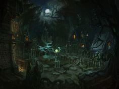 werewolf town by tiemao on DeviantArt