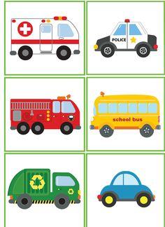Free clipart vehicle images for kids, boys, girls, fire truck Preschool Curriculum, Montessori Activities, Toddler Activities, Preschool Activities, Transportation Activities, Community Helpers, Early Childhood Education, Kids Education, Kids Cards
