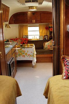 taken by Victoria Mock Airstream Renovation, Airstream Interior, Trailer Interior, Airstream Camping, Camping Car, Glamping, Diy Camper, Camper Ideas, Vintage Rv