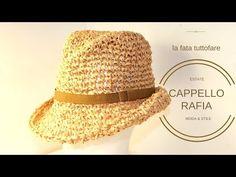 TUTORIAL: cappello rafia/ cappello tipo fedora/ fedora hat**lafatatuttofare - YouTube