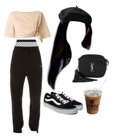"""13:50 pm"" by georgia78 ❤ liked on Polyvore featuring Roberto Cavalli, Agent Provocateur, Vetements, Vans and Yves Saint Laurent"
