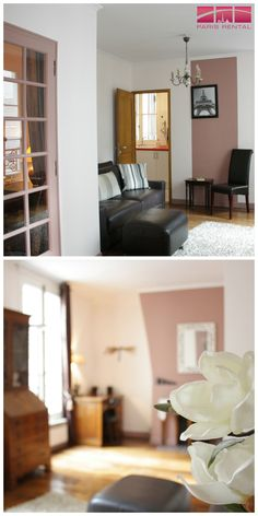 This #furnished #rental in #Paris is pretty in #pink!