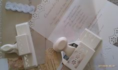 """DIY wedding invitation... we could make our own """"lace"""" with this punch! @Michelle Ragan"""