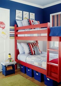 I love this! My boys have this bunk bed, now all I need is paint!!!