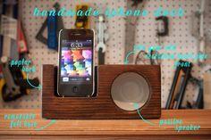Reclaimed Heart Pine iPhone Dock / Amplifier - by jenniferglass @ LumberJocks.com ~ woodworking community