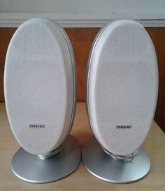 Vintage Sony Oval Style 2 Way Speaker System SS-CCQ1 2 Speakers #Sony