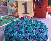 One Cake Topper, 1, Smash Cake Banner, First Birthday, Birthday Cake
