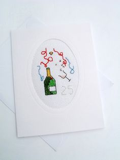 Silver or Golden Anniversary Cross Stitch Card