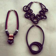 Colares feitos com corda pela Adedo;                                                                                                                                                      Mais