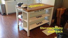 Ajouter des étagères à l'ilot de cuisine STENSTORP