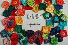 Granny squares, Colorful Rainbow Crochet applique, 5cm, Set of 10. Colorful crochet granny squares for your craft project. All the squares vary in design and color shade and look really impressive organized by rainbow colors. QUANTITY Set of 10 squares. Your set will be a mix of different colors and patterns. But you can order any custom variation from the color chart. MATERIALS Hand crocheted with Italian 100% cotton yarn. Completely handmade and one of a kind, so yours may vary from...