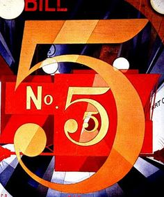 The Figure 5 in Gold by Charles Demuth, 1883-1935, American artist