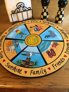 CUSTOM Lazy Susan designed and hand painted by paintingbymichele, $155.00
