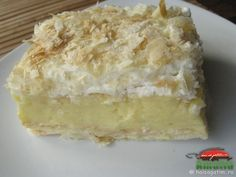 Romanian Food, Vanilla Cake, Pastries, Deserts, Food And Drink, Gluten, Recipes, Sweets, Blue Prints