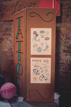 Have a temporary tattoo station. | 13 Rad Ideas For A Tattoo-Inspired Wedding
