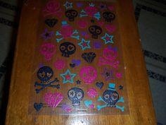Skull & Crossbones with Glitter