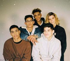 Are they the new One Direction? Boy band PRETTYMUCH leave Simon Cowell's Beverley Hills mansion and take a ride in his car following rumours they have been signed by the mogul