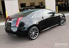"2011 Cadillac CTS Coupe with 20"" Vossen VVS-CV1 in Matte Black (Machined / SS Lip) wheels"