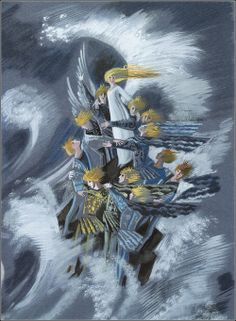 "fairytalemood:  ""The Wild Swans"" illustrated by Nika Goltz"