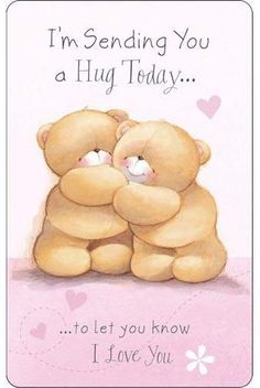 Sending You a Hug Forever Friends Wallet Card Hugs And Kisses Quotes, Hug Quotes, Kissing Quotes, Hug Pictures, I Love You Pictures, Good Morning Greetings, Good Morning Wishes, Good Morning Miss You, Special Friend Quotes