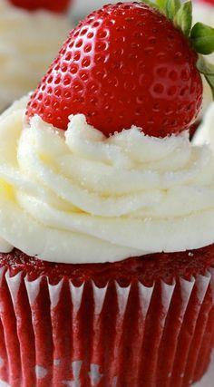 Strawberry Red Velvet Cupcakes Recipe