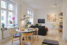 Minipiso de 40 m2 bien aprovechado | Decorar tu casa es facilisimo.com
