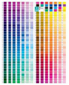 CMYK color values. Cmyk Color Chart, Copic Color Chart, Color Mixing Chart, Skin Color Palette, Palette Art, Pantone Color Bridge, Colour Schemes, Color Patterns, Anime Hair Color