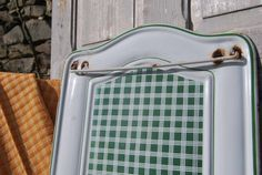 Striking Antique French Green & White by ParisChateauBrocante