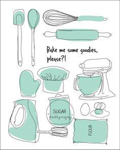Bake me some goodies.via Etsy.