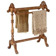 cda19347b1 Hand-carved Vintage Oak Finished Blanket  Quilt Stand (Hand-carved Blanket  Stand in Oak)