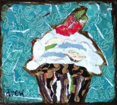 "For Sale: minnie by Drew Trombley | $100 | 6""w x 6""h | Original Art | http://www.vangoart.co/buy/art/minnie @Vango"