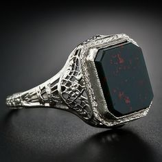 Vintage Bloodstone Ring (With images) | Bloodstone jewelry