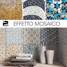 L'effetto mosaico di Petra Solis decora con grande freschezza e dona agli ambienti un sapore mediterraneo. Scopri le 6 fantasie dei decori Ornatum >> http://www.panaria.it/italian/interni/marmi-e-pietre/petra-solis/112/