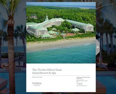 Westin Hilton Head Island Resort & Spa Another design that started as a series of sketches and ended up as a fully #printedsaleskit and #onlineWebBook.
