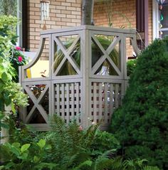 Privacy screen for the patio.